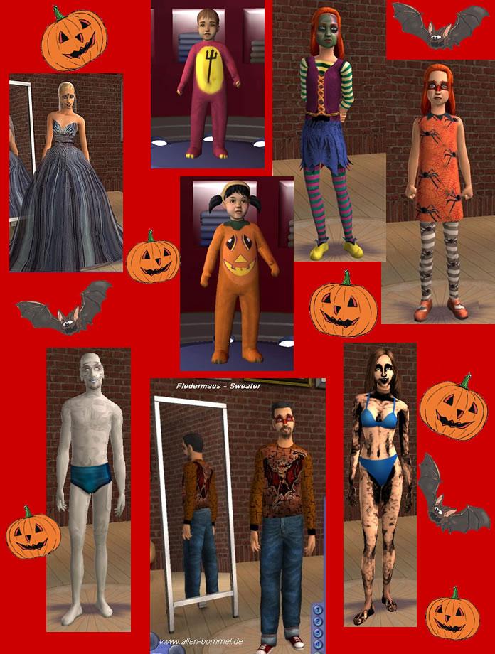 startseite halloween2 2007 XM Sims2 free Sims 2 computer game skin tone download